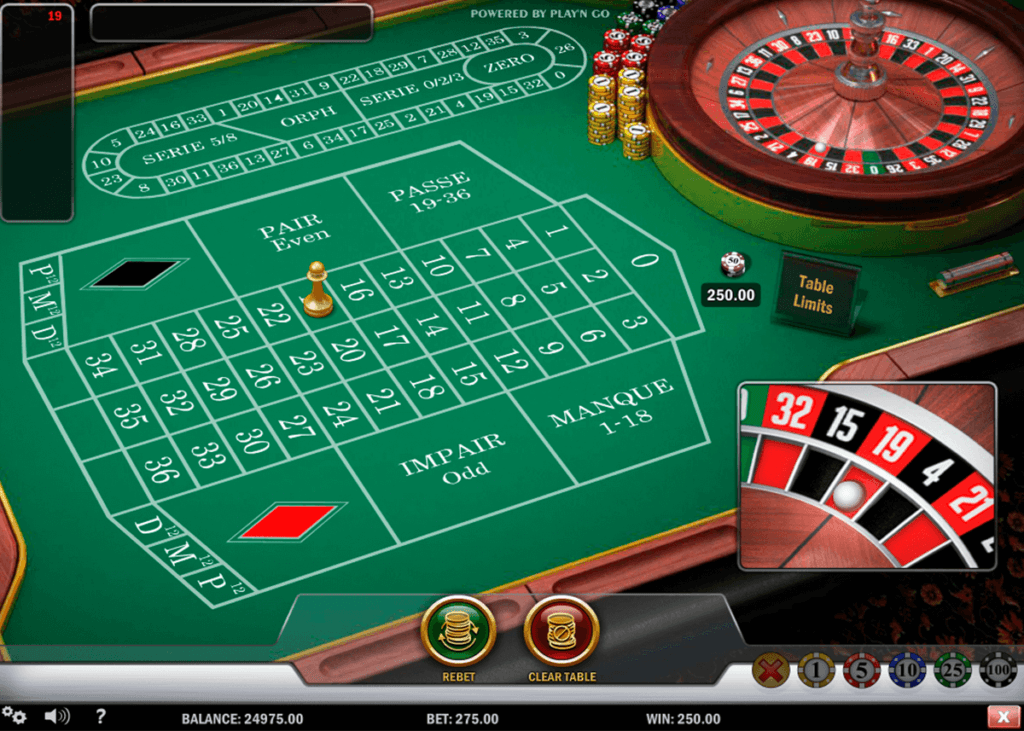 french roulette casino online