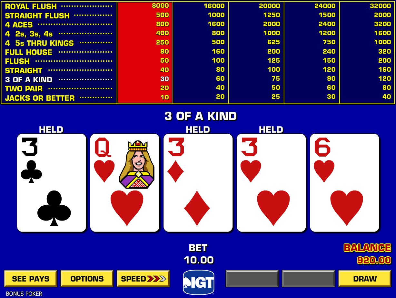 Video Poker da Bar da giocare online: lista migliori siti