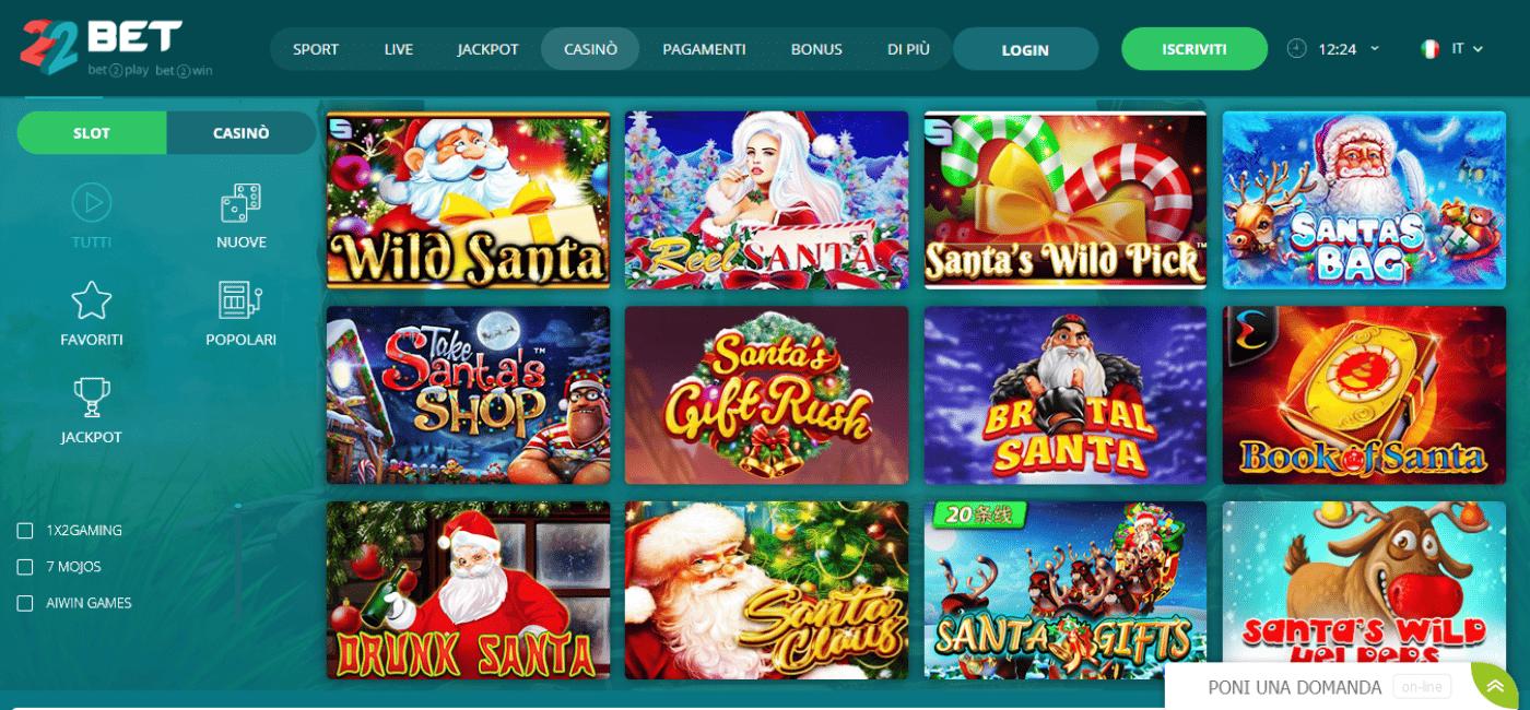 Slot Babbo Natale: le migliori slot machine con Giri Gratis